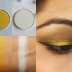 Makeup Geek Eye Shadow Lemon Drop and Ice Queen Look
