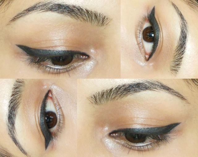 Thick Winged Liner Eye Makeup
