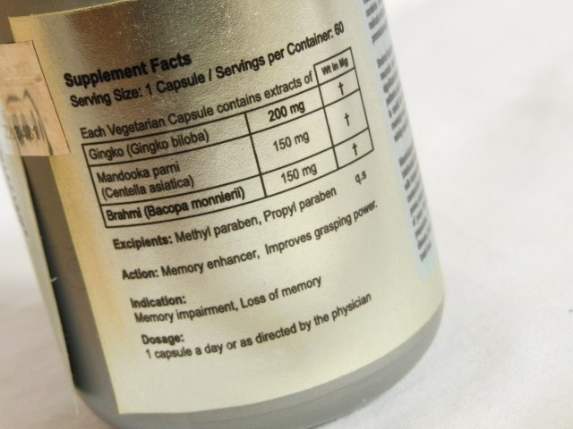 Zenith Nutrition Memory Fab Capsules Ingredients