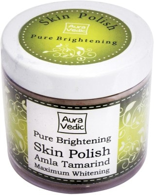 Auravedic 100 pure brightening skin polish with amla tamarind