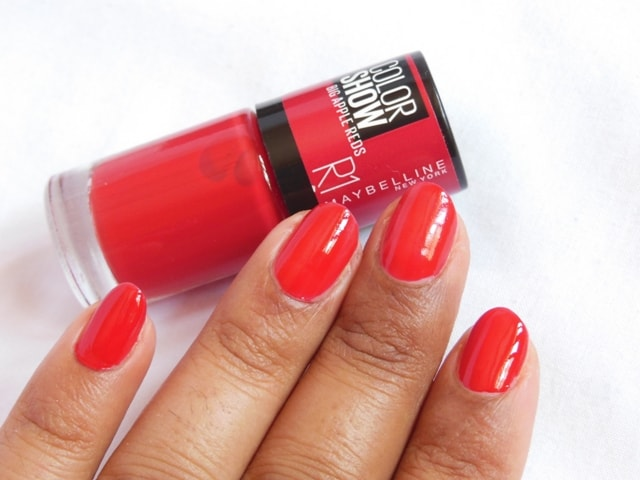 Maybelline Big Apple Reds Color Show Nail Paint - Paint The Town Red R1 NOTD