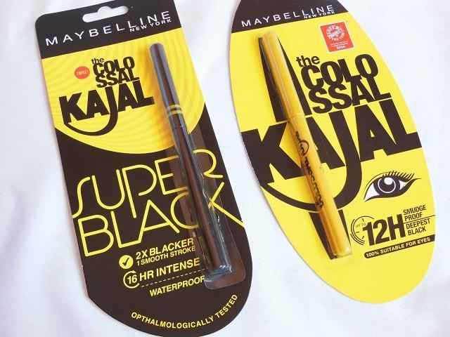 Maybelline Colossal Kajal vs New Maybelline Super Black Kajal