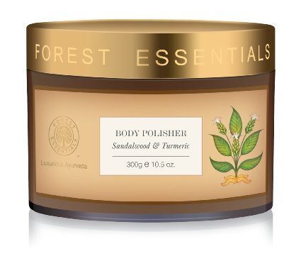 Best Body Scrubs for Dry Skin in India - Forest Essentials Sandalwood & Turmeric Body Polisher