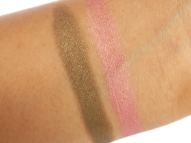 Clinique Chubby Stick Shadow Tint for Eyes - Whooping Willow and Pink and Plenty Swatch