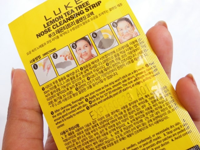 Skin18.com Nose Strips Usage Directions