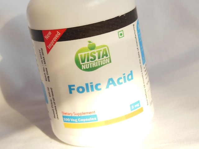 Vista Nutrition Folic Acid Supplement Vegetarian Capsules Review