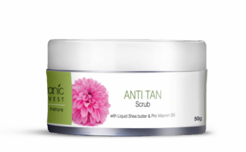 Best Scrubs To Remove Sun Tan In India - Organic Harvest Anti-Tan Scrub