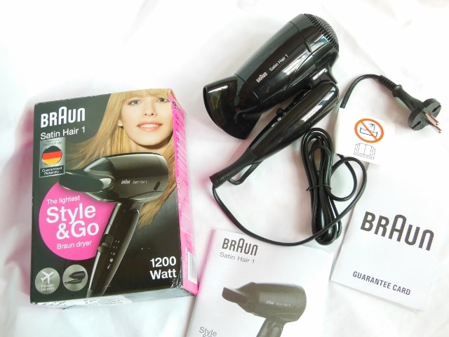 Braun Style and Go Hair Dryer Packaging
