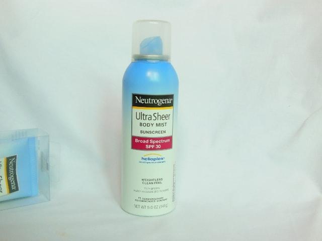 Neutrogena Ultra Sheer Body Mist Sunscreen SPF 30 Review