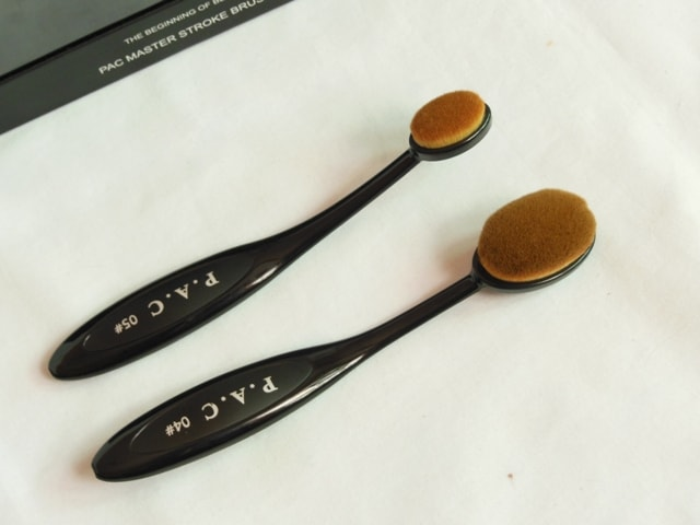 PAC Cosmetics Master Stroke Brush 04 and 05 review