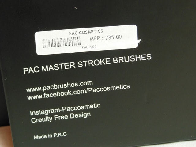 PAC Cosmetics Master Stroke Brushes 05 Price