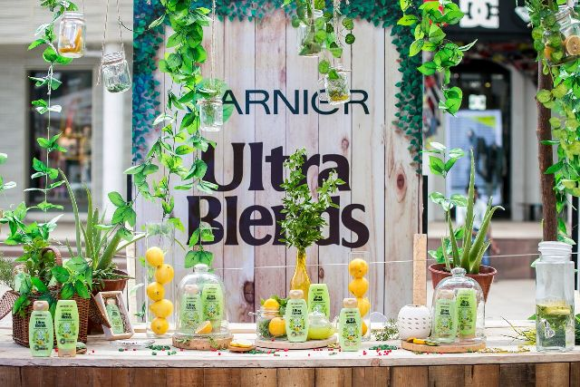 Garnier Ultra Blends Range Launch setup