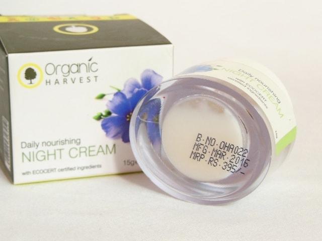 Organic Harvest Daily Nourishing Night Cream Price