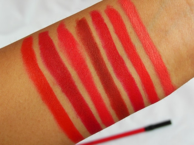 PAC Colorlock Lip Liners Swatches
