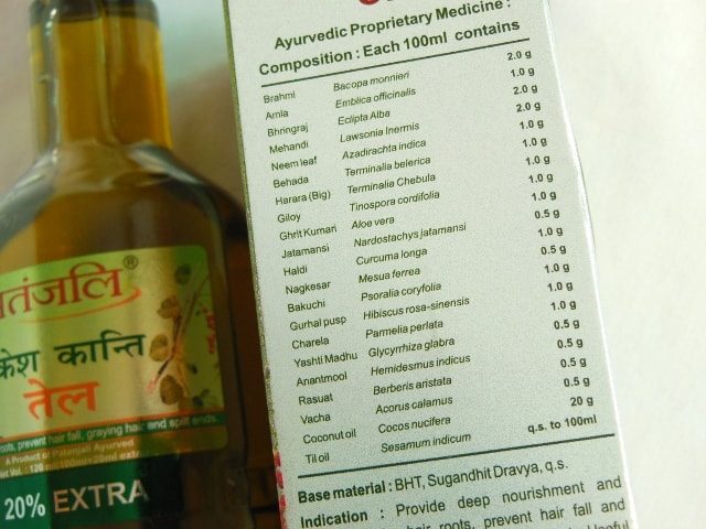 Patanjali Kesh Kanti Oil Ingredients