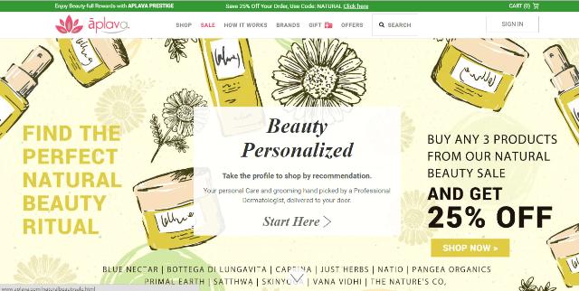 Aplava.com Personalized Beauty Service