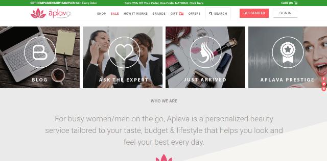 Aplava.com categories