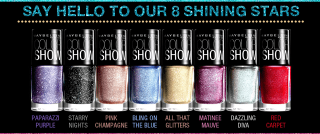 Best Glitter Nail Paints in India -Maybelline Color Show Glitter Mania Nail Polish