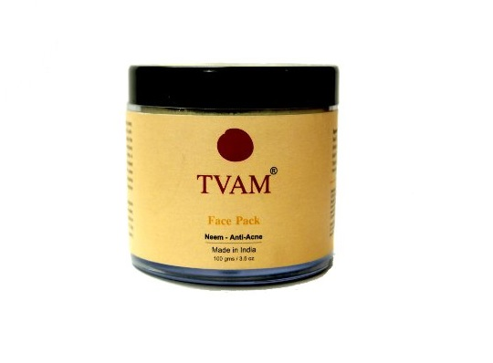 Best Herbal Face Packs for Oily Acne Prone Skin- TVAM Anti Acne Face Pack