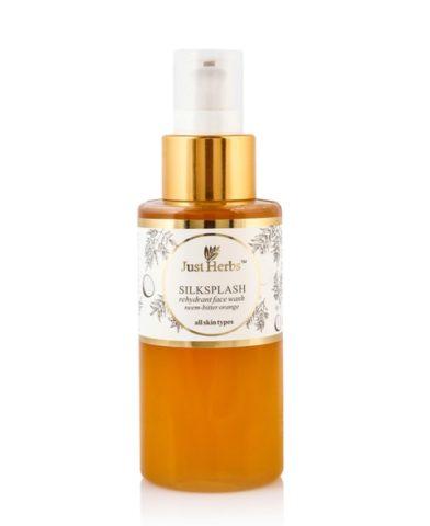 Best Neem Based Natural Face Washes - Just Herbs Silksplash Neem Orange Face Wash