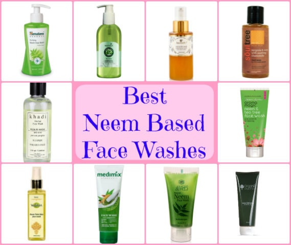Best Neem Based Natural Face Washes for Oily Acne Prone Skin