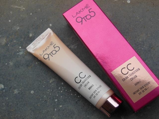Lakme 9 to 5 Color Transform CC Cream Review