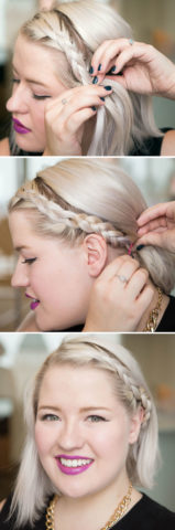 15 Best Hairstyles For Short Hair -Front Braid