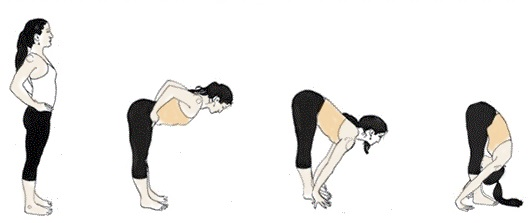 best-yoga-poses-for-pimples-amd-dark-circles-uttanasana-standing-forward-bend-steps
