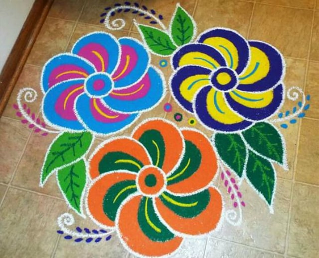Home rangoli designs homemade ftempo for Home made rangoli designs