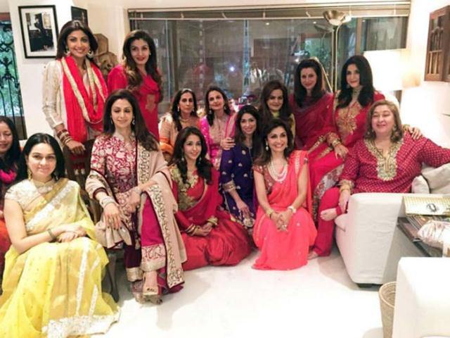 bollywood-karwa-chauth-celebrations-shilpa-shetty-home