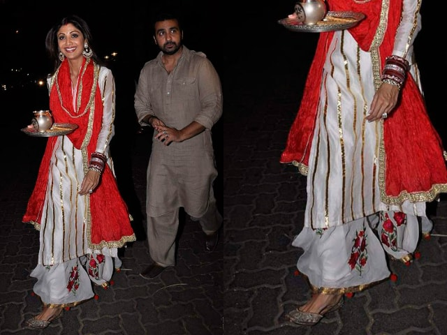 bollywood-celebrities-karwa-chauth-outfit-shilpa-shetty-white-plazzo-2