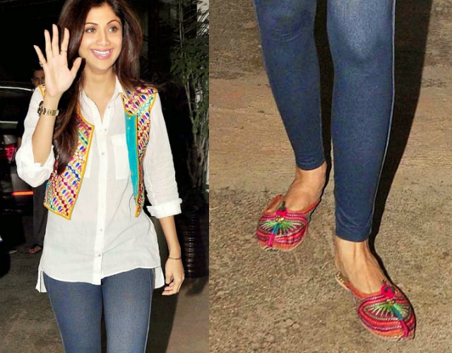 wardrobe-essentials-for-indian-brides-shilpa-shetty-ethnic-flats