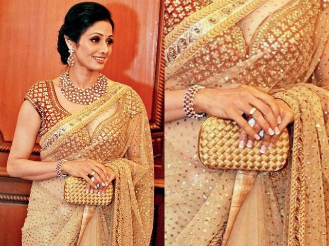 wardrobe-essentials-for-indian-brides-sridevi-golden-clutch