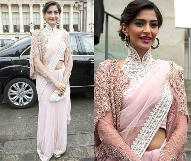 best-ethnic-looks-of-sonam-kapoor-sonam-kapoor-in-pink-saree