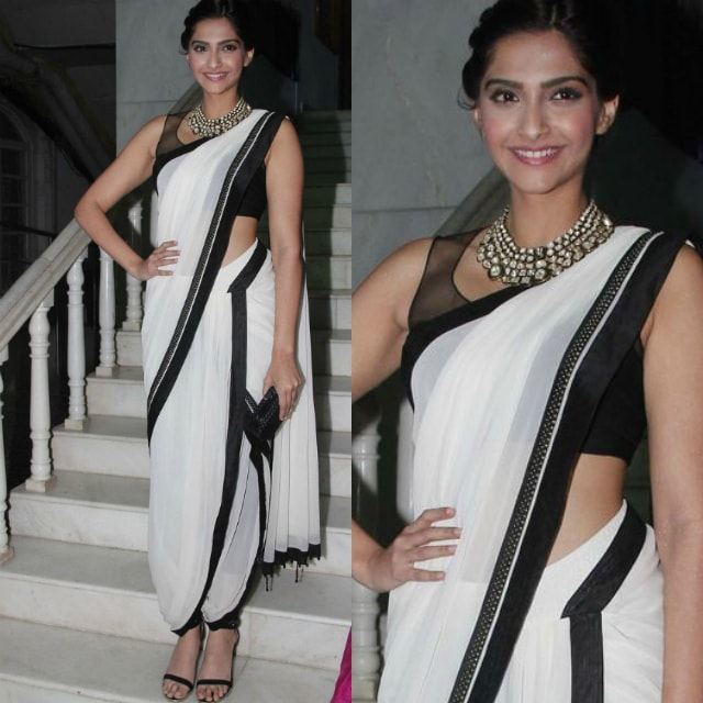 best-ethnic-looks-of-sonam-kapoor-sonam-kapoor-in-white-saree-on-red-carpet
