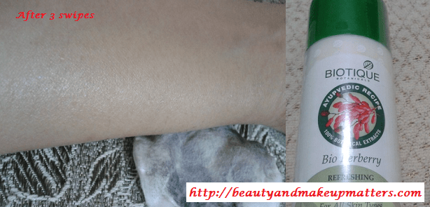 Biotique-Bio-Berberry-Cleansing-Lotion-Swatch2