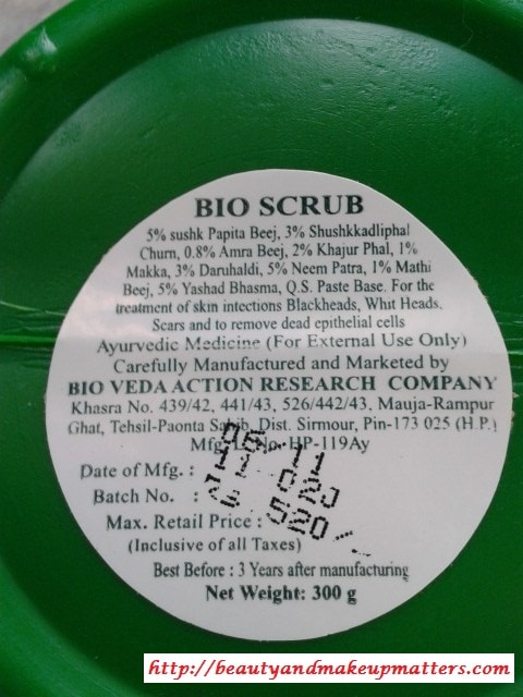 Biotique-Papaya-Scrub-Ingredients