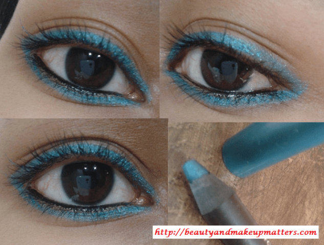 Faces-Long-Wear-Eye-Pencil-Aqua-Blue-EOTD