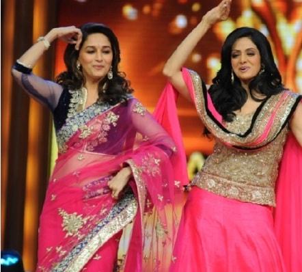 madhuri-v-s-sridevi-in-jhalak-dance