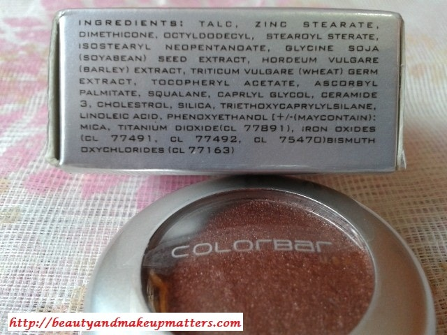 Colobar-Spicy-Brown-Eye-Shadow-Ingredients