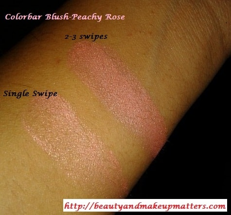 Colorbar-Blush-PeachyRose-Swatches