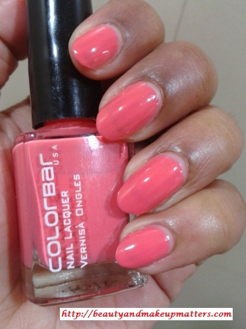 Colorbar-Nail-Lacquer-Autumn-Rose-NOTD