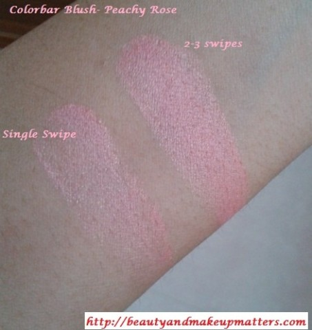 Colorbar-PeachyRose-Blush-Swatches