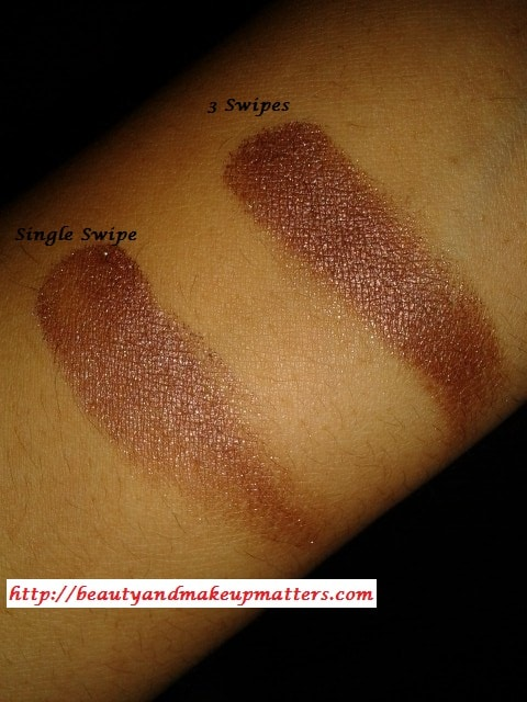 Colorbar-Spicy-Brown-Eye-shadow-Swatch