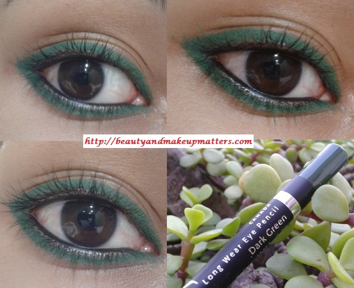 Faces-Canada-Long-Wear-Eye-Liner-Dark-Green-EOTD