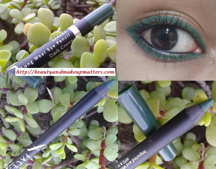 Faces-Canada-Long-Wear-Eye-Liner-Dark-Green-Look
