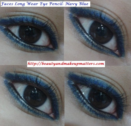 Faces-Eye-Liner-Navy-Blue-EOTD