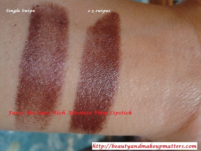 Faces-Moisture-Rich-Lipstick-Absolute-Plum-Swatches