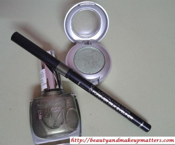 Green-Eyeliner-Eyeshadow-NailPaint