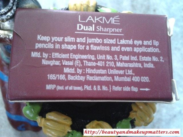 Lakme-Dual-Sharpener-Claims